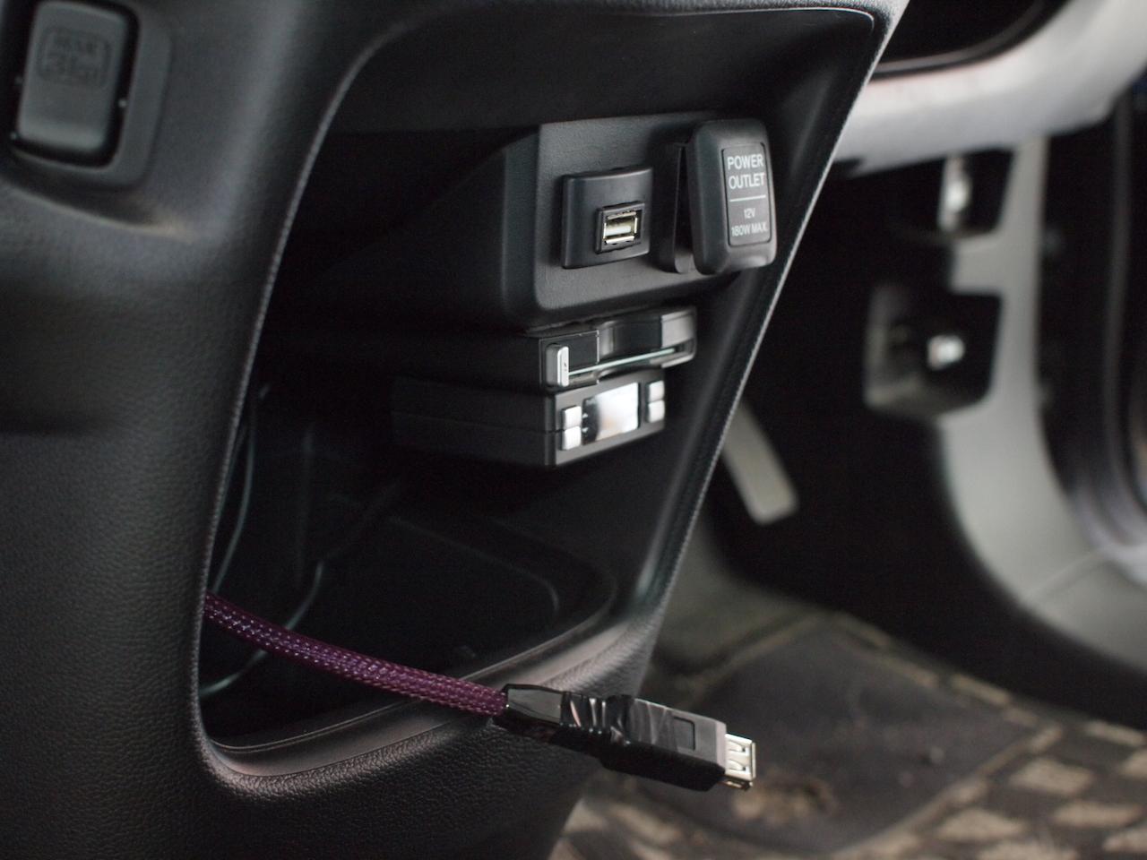 USBケーブル配線