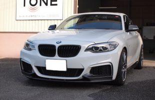 BMW 235i(F22)にアンプ取り付けとスピーカーケーブル引き換え作業