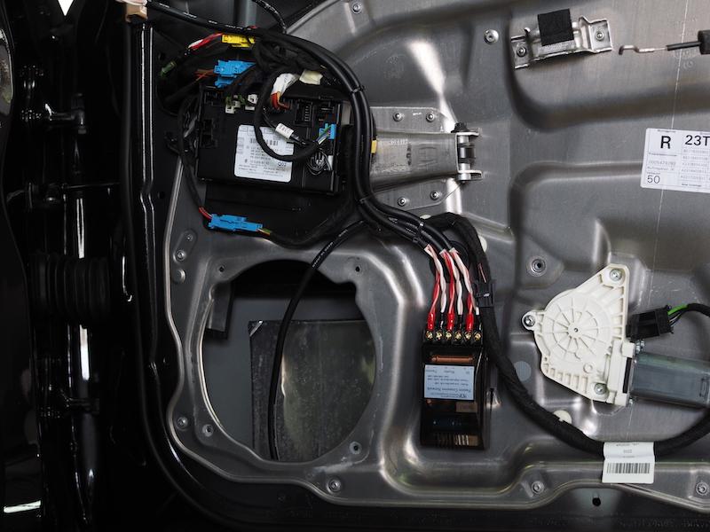 メルセデスベンツW221パッシブネットワーク取り付け