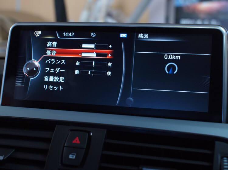 BMW純正オーディオ音質調整