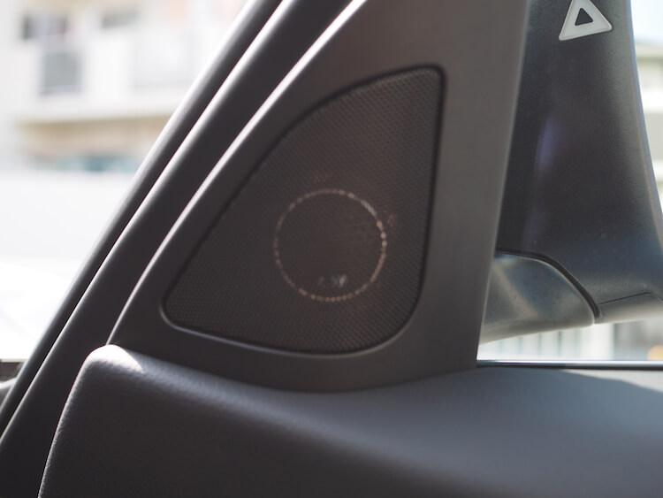 BMW 320d スピーカー交換 ミラー裏パネルツィーター取り付け