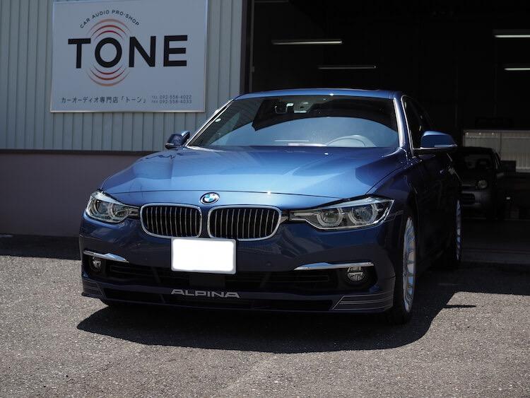BMWアルピナ D3 スピーカーとプロセッサー取り付け作業