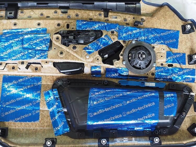 BMW523iドア内張りデッドニング