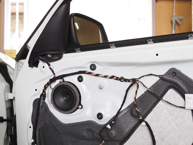 BMW118d 純正スピーカー交換