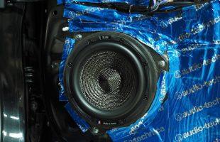 トヨタ カローラフィールダー ブラムのスピーカーへ交換作業
