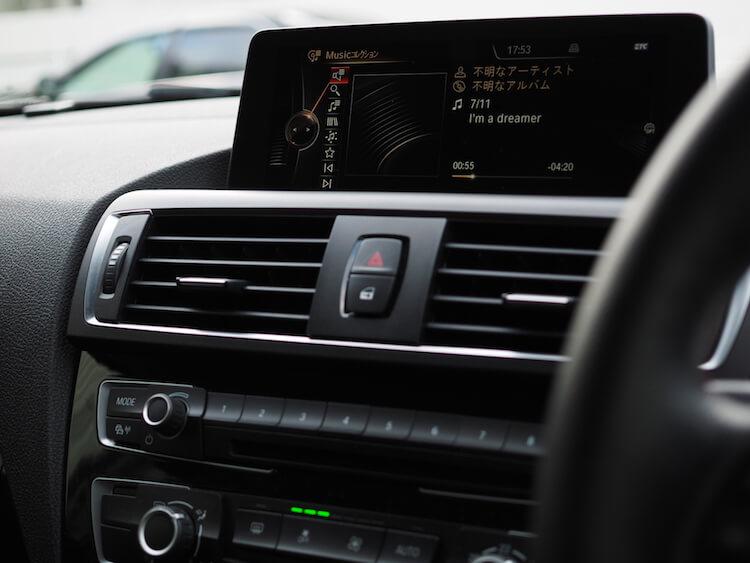 BMW純正オーディオの音質調整機能を使った音調整