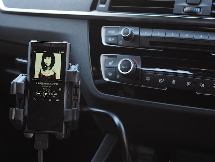 BMW_M2でウォークマンのハイレゾ音源を聴けるようにする
