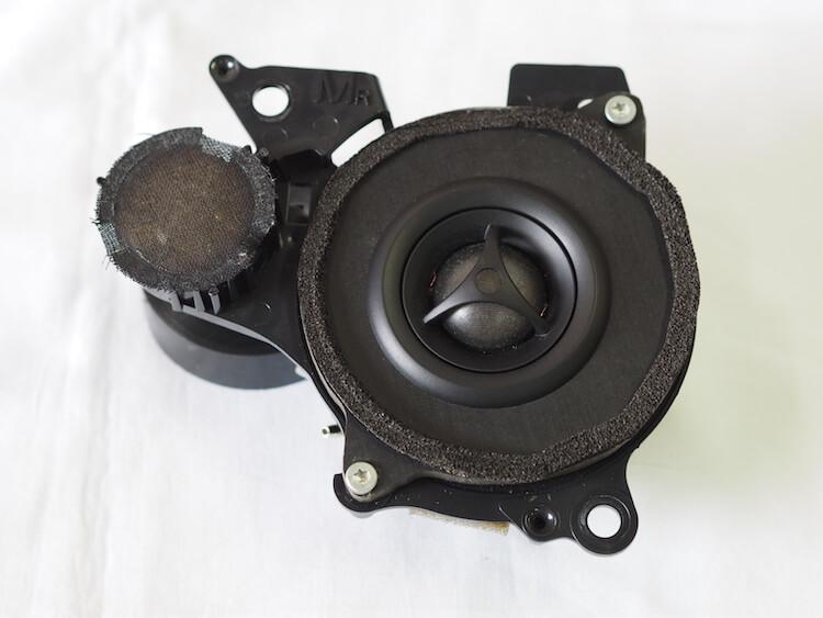 レクサス LS600hL 純正ミッドレンジとモレルツィーターを交換