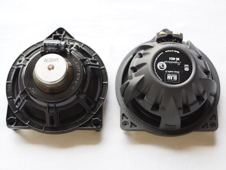 メルセデスベンツGLC250純正スピーカーとブラムS100N24を比較