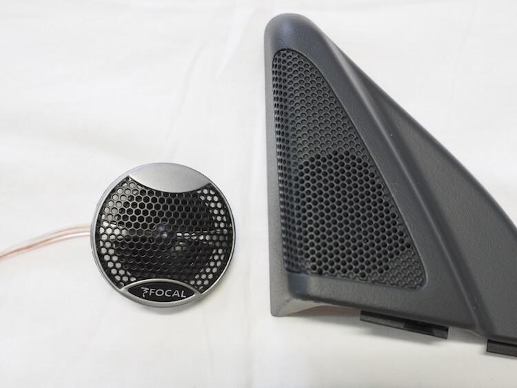 メルセデスベンツCLKにフォーカルのスピーカーPS165V1ツィーター取り付け