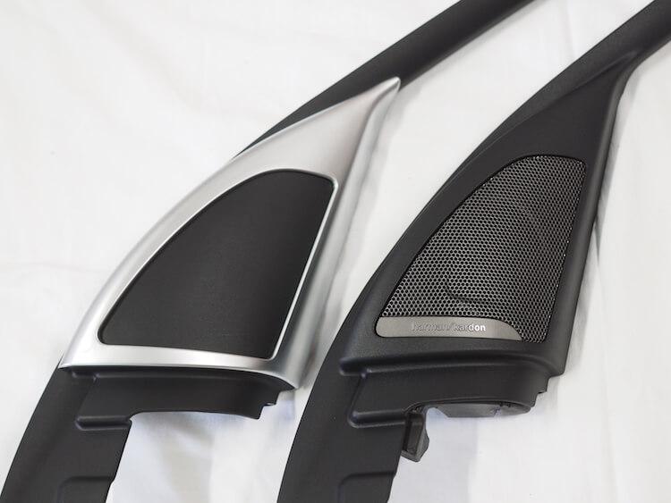 BMWX1ツィーター無しパネルとハーマンパネル比較