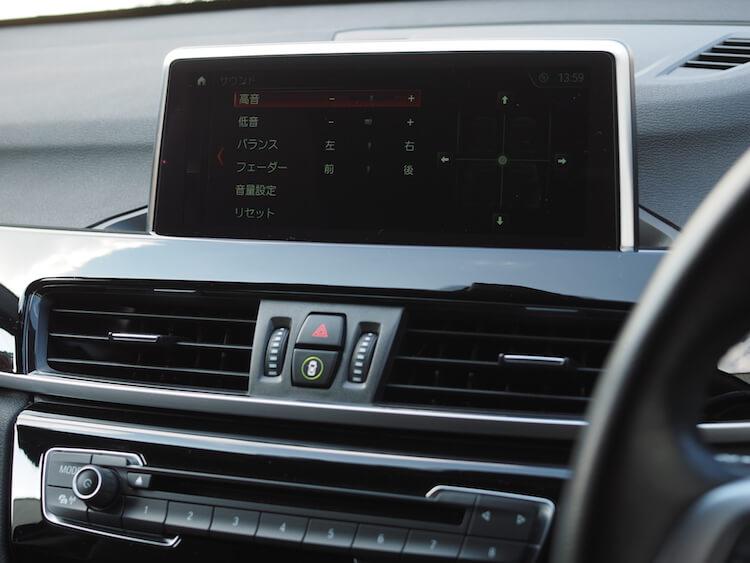 BMWX1のオーディオ音質調整