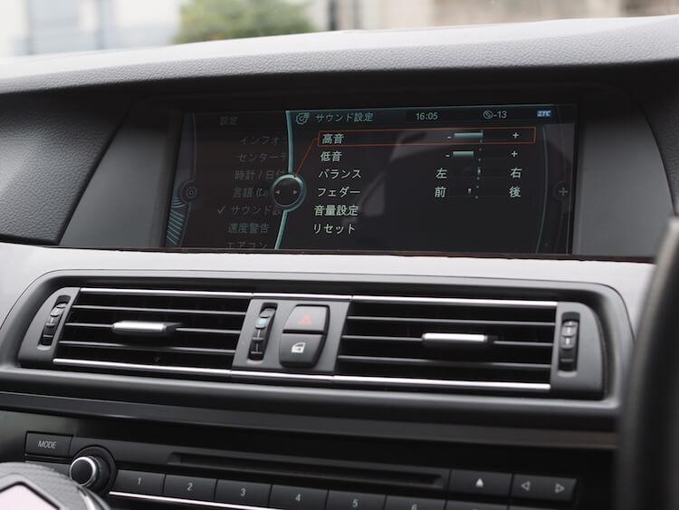 BMW_528iの音質調整