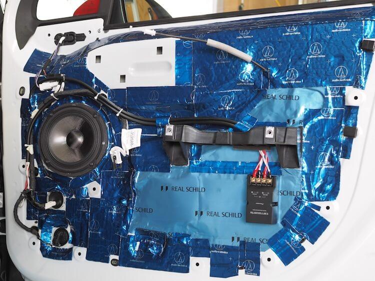 シトロエン C3 スピーカー交換とドア制振作業