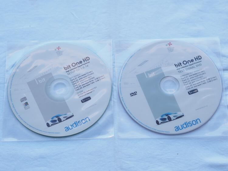 オーディソンのプロセッサー、bitOneHDセットアップディスク