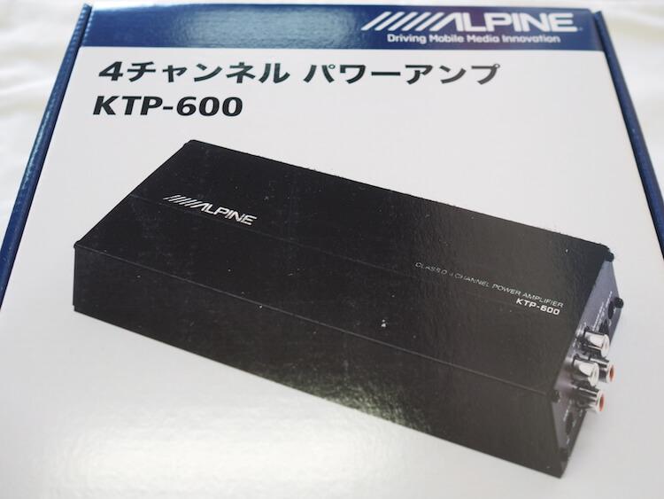 アルパインの小型アンプKTP-600