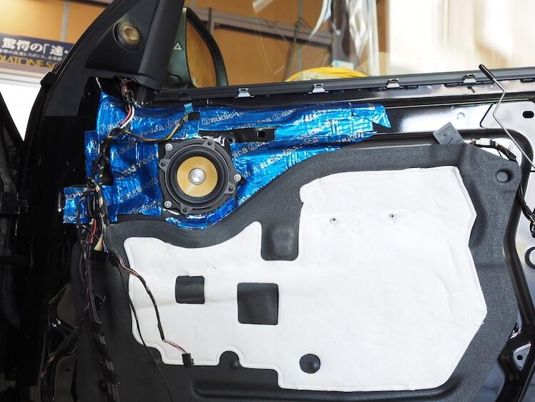 BMW_X3スピーカー交換済みのドア内部