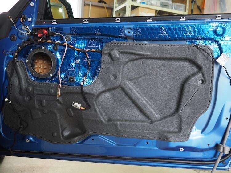 BMW2シリーズF23のフロントドアデッドニング