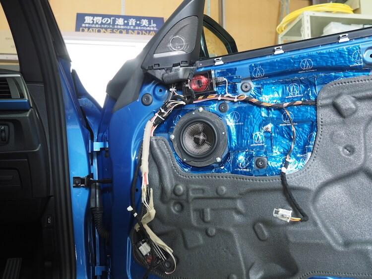 BMW2シリーズF23のドアにブラムのスピーカー取り付け