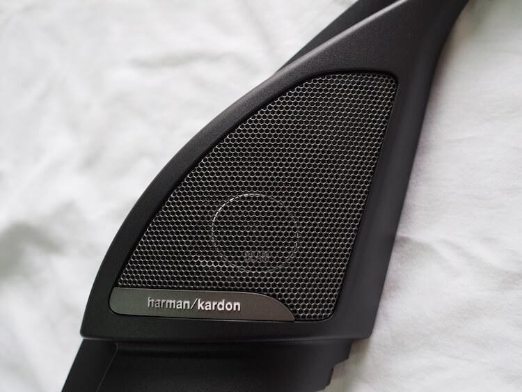 BMWX2のミラー裏パネルにブラムのツィーターを取り付け