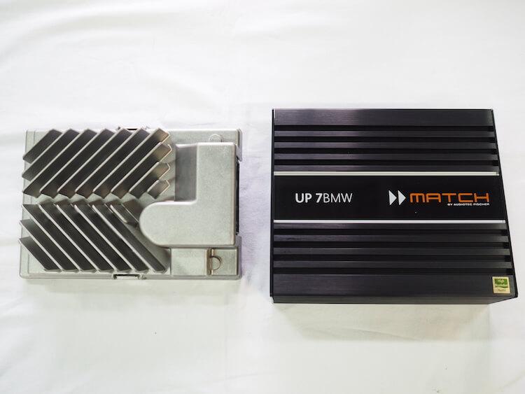 BMWX2の純正アンプとマッチのBMWハイファイオーディオ専用アンプ内蔵プロセッサーを比較