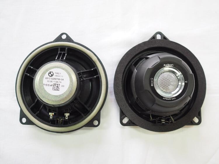 BMW X4_F26の純正スピーカーとオーディソンのスピーカーを比較