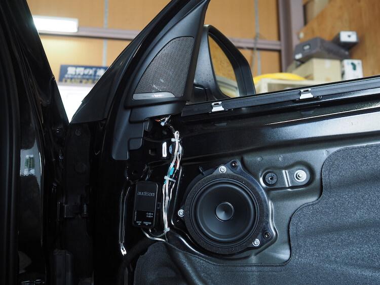 BMW_X1にオーディソンのスピーカーを取り付け