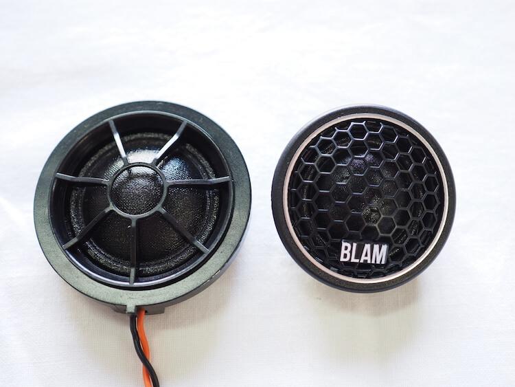 BMWアルピナXD3の純正ツィーターとプラムのツィーター