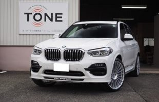 BMWアルピナ XD3 フロント・リア・シート下スピーカー交換とアンプ内蔵プロセッサー取付