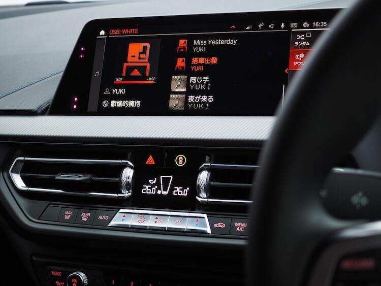 BMWF40のオーディオの音質調整