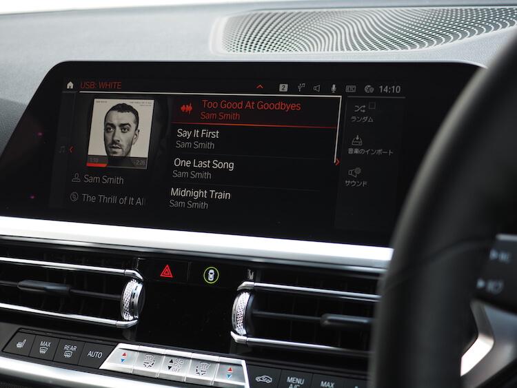 BMW3シリーズG20の純正オーディオ