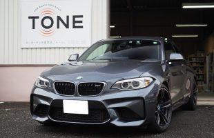 BMW M2(F87)フロントドアスピーカーとシート下ウーファー交換