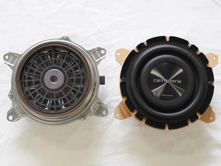 レクサス IS300h リアトレーサブウーファー交換