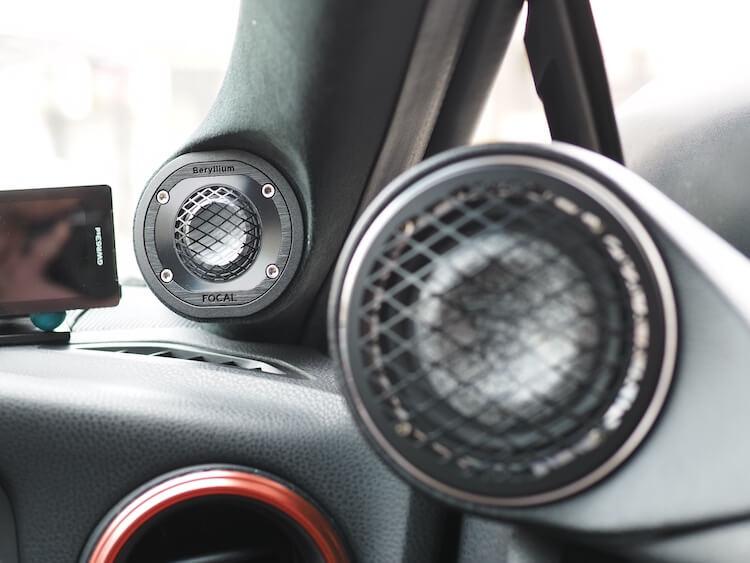 トヨタ86のAピラーを加工してフォーカルのツィーターを取り付け