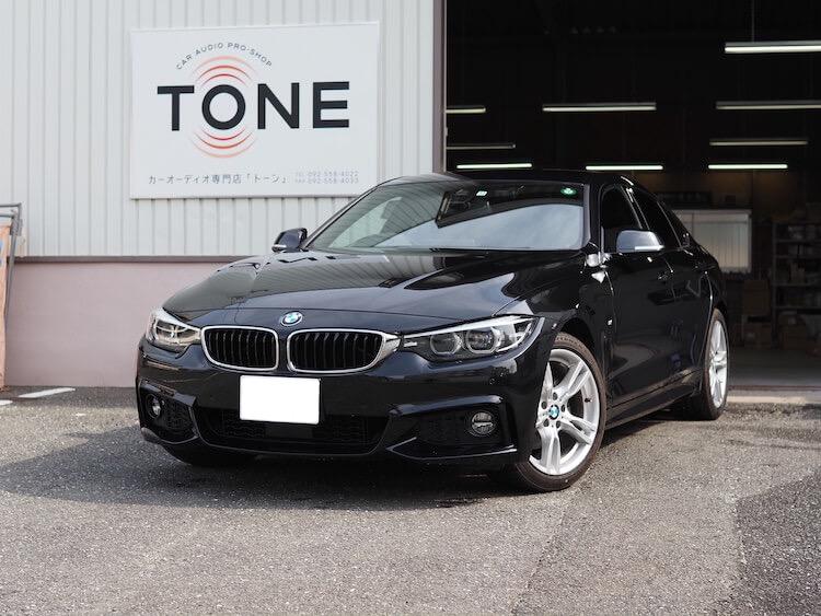 BMW 420i フロントスピーカー交換とシート下ウーファー交換