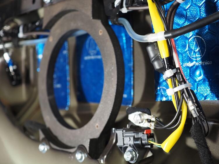 ジムニーシエラのリアスピーカー用のパッシブクロスオーバー