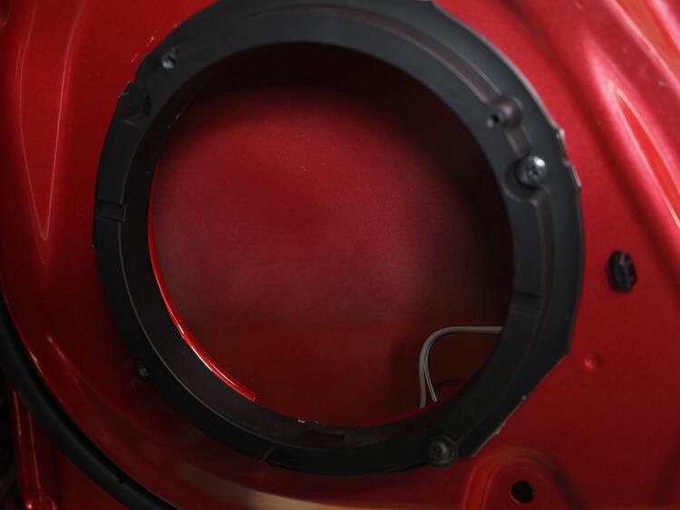スズキスイフトのリアドア内部
