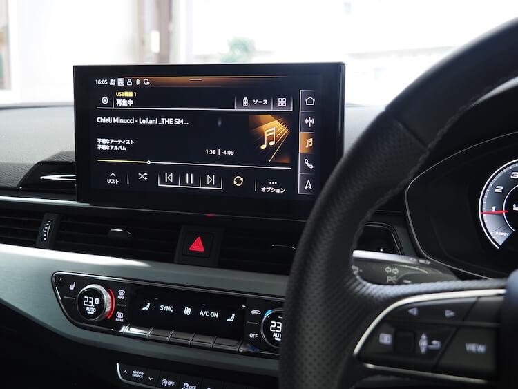 アウディA5のオーディオ音質調整