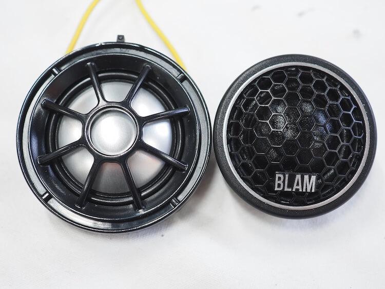 BMW純正ツィーターとブラムのツィーターを比較
